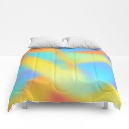 pastel shades of rainbow Comforters