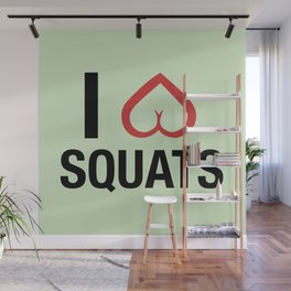 Squat Love Wall Mural