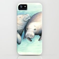 Manatee Love Slim Case iPhone (5, 5s)