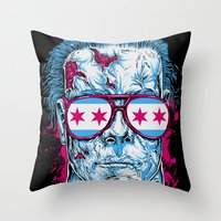 michael myers Throw Pillows featuring Michael Myers by Steven Luros Holliday