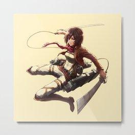 Mikasa Ackerman Great4 Metal Print