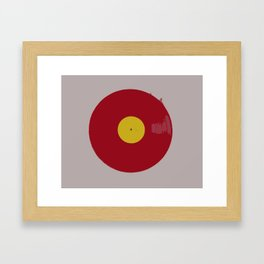 Red Vinyl Framed Art Print