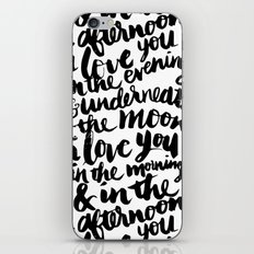 I love you in the morning iPhone Skin