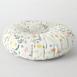 Retro Botanical Floor Pillow