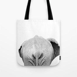Elephant Back Photo   Black and White Tote Bag