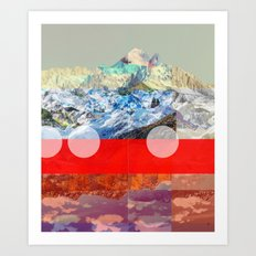 MountainMix 10 Art Print