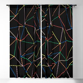 A Dotted Color Lines B Blackout Curtain