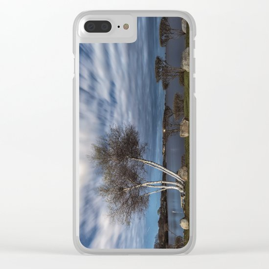 Birch tree by the pond Clear iPhone Case
