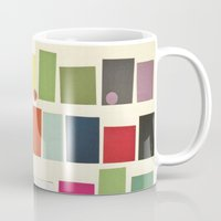 city Mugs featuring City by Cassia Beck