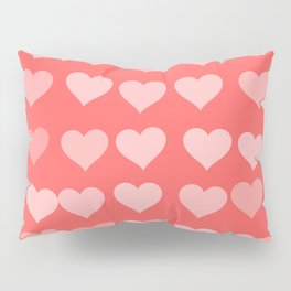 Cute Hearts Pillow Sham