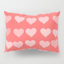 Cute Hearts Pillow Sham