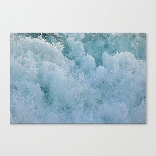 BUBBLES ON THE OCEAN Canvas Print