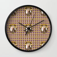 mozart Wall Clocks featuring Mozart Wallpaper by Glenn Designs