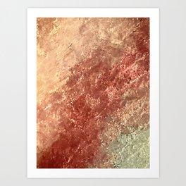 Crystallized Copper Trails Art Print