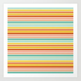 Over Striped Art Print