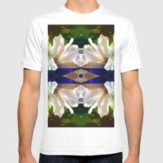 Flowers in the Starlight MEDIUM Mens Fitted Tee White