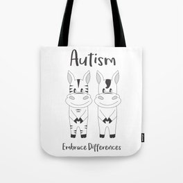 Autism Embrace Differences Tote Bag