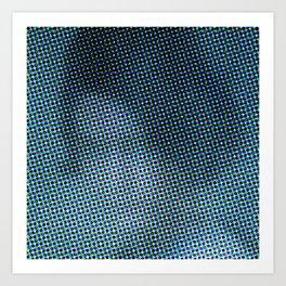 Antonina Shulz in the color grid Art Print