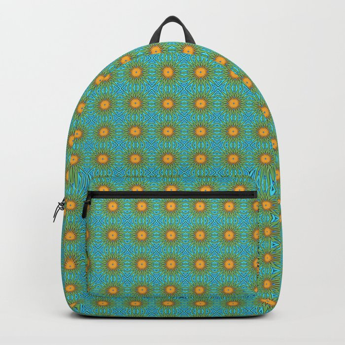 Yellow Salsify Flower Pattern Backpack