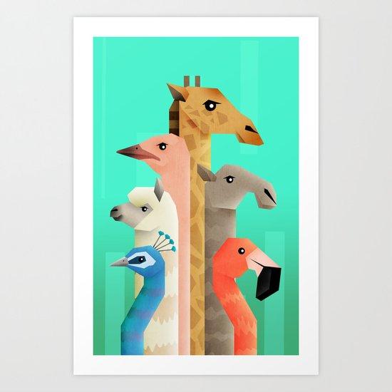 Long necks Art Print
