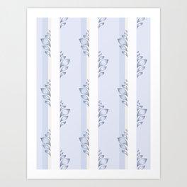 Moving Upwards - Blue Art Print