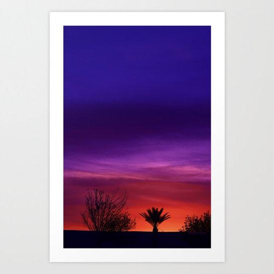 Desert SW Sunset Art Print