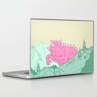 kaiju Laptop & iPad Skins featuring Kaiju Naptime by Dickie Danger