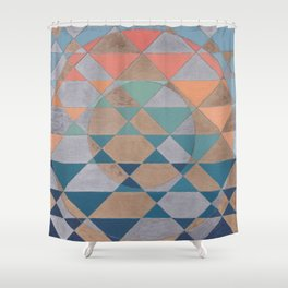 Circles and Triangles Shower Curtain