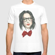 The Girls With Glasses Mens Fitted Tee MEDIUM White