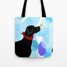 Black Labrador Retreiver Dog Print Tote Bag
