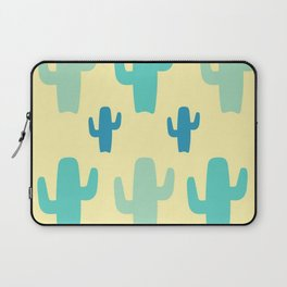 Green Cactus with Yellow Background Laptop Sleeve
