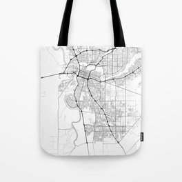 Minimal City Maps - Map Of Sacramento, California, United States Tote Bag