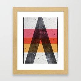 A minimal graphic design artwork Framed Art Print