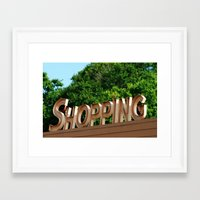 shopping Framed Art Prints featuring Shopping by Ink and Paint Studio