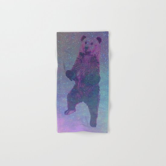 Bear Nebula (brown bear in the stars) Hand & Bath Towel