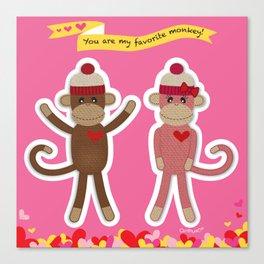 Favorite Monkey Canvas Print