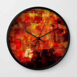 Sunrise in Africa Wall Clock