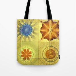 Didactic Rainbow Flower  ID:16165-120332-39891 Tote Bag