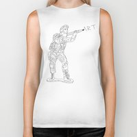 military Biker Tanks featuring Military Art by Dario Olibet