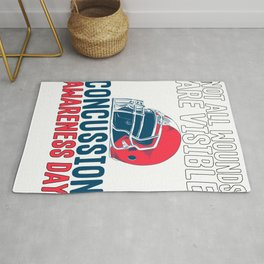 Traumatic Brain Injury Not All Wounds are Visible Concussion Awareness Rug