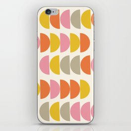 Cute Geometric Shapes Pattern in Pink Orange and Yellow iPhone Skin