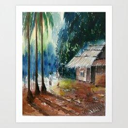 Village scenery Art Print
