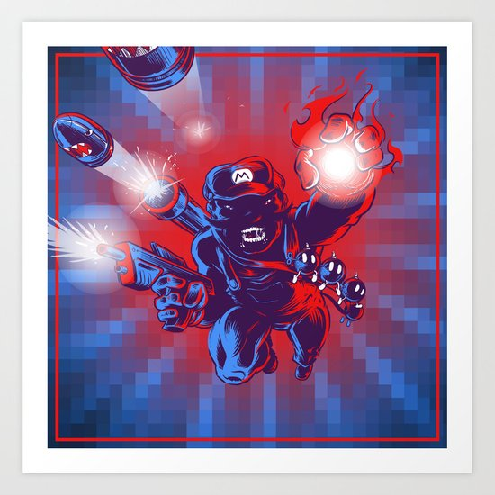 Action Hero Art Print