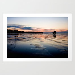 Saint Malo au coucher du soleil / Sunset in Saint Malo Art Print