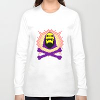 skeletor Long Sleeve T-shirts featuring Skeletor Pixeletor by Yildiray Atas
