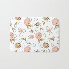 Modern Roses Bath Mat