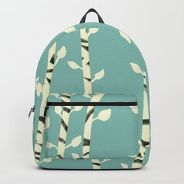 Birch branches blue pattern Backpack
