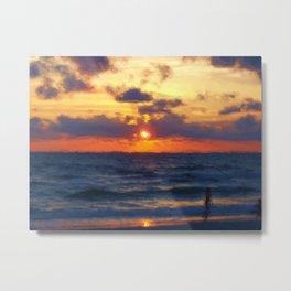 Sunset on Marco Island Metal Print
