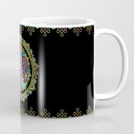 Endless Knot in Mandala Lotus shape Coffee Mug