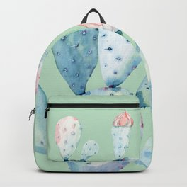 Rose Desert Cactus Light Mint Green by Nature Magick Backpack